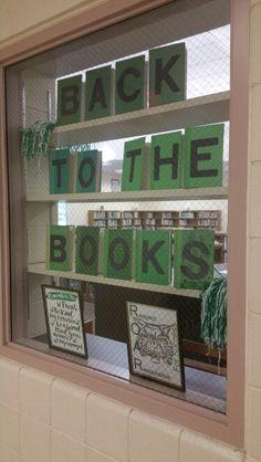 Back to school window display.