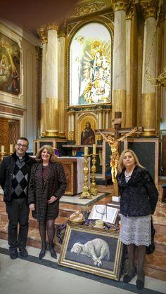 Entrega reproducción Agnus Dei en la Parroquia de Nª Sª de los Ángeles, en Serra, Valencia.