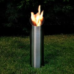 Feuerstelle, Fackel, Feuersäule, Feuerkorb Aus Edelstahl, Bio Ethanol  Brenner 61 X 16