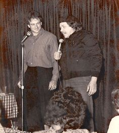 Robin Williams and Sam Kinison onstage in the Original Room