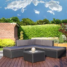 Abreo Rattan Garden Furniture - High quality and affordable outdoor garden furniture such as rattan sofas, dining tables and cube sets Black Rattan Garden Furniture, Outdoor Garden Furniture, Outdoor Decor, Rattan Sofa, Garden Living, Dining Table, Inspirational, Home Decor, Dinning Table