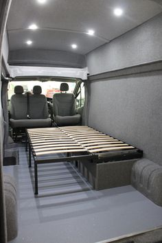We've a real passion and expertise for campervan conversions. We'll help, guide and advise you every step of the way to campervan life. Vw T5 Interior, Motorhome Interior, Campervan Interior, Vw Transporter Conversions, Vw Transporter Camper, Day Bed Frame, Campervan Bed, Fold Up Beds, Van Storage