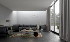 Pilkas interjeras / Gray interior. Personal project. View 01