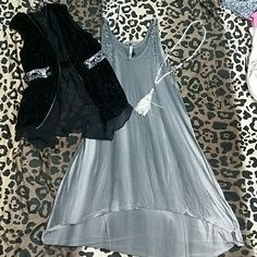 Petrol  high low dress NWOT Large! Can be worn with leggings as tunic (leather would be super cute and booties) Buckle Tops Tunics