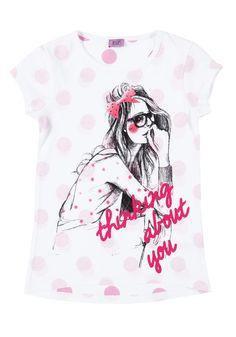 F Spot print girl t-shirt