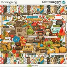 Thanksgiving is a digital scrapbook kit by Kristin Aagard that includes a variety of elements and papers to create baking and fall and Thanksgiving themed scrapbook pages and projects. Scrapbook Pages, Digital Scrapbooking, Family Traditions, Give Thanks, Happy Thanksgiving, Happy Friday, Fall Recipes, Harvest, Holiday Decor