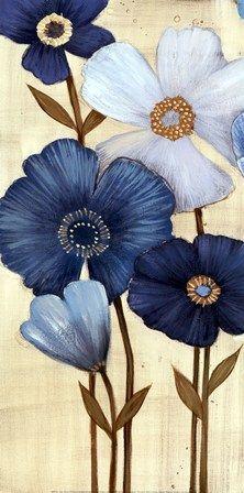 Fleurs Bleues I - Maja: