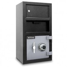 Mesa MFL2014EOLK Front Drop Depository Safe With Top Locker