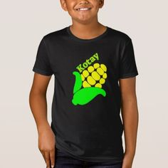 Text in Kitsai : Kotay and a yellow corn T-Shirt - simple clear clean design style unique diy