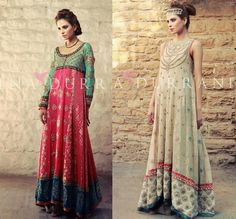 Beautiful Dresses by Pakistani designer Tena Durrani. Love the one on the right!