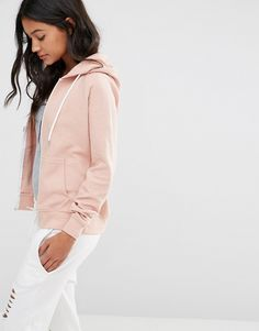 Boohoo+Ribbed+Zip+Through+Hoody