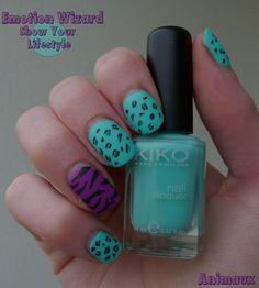 #leopard #nails #mint #zebre #nailart http://www.emotion-wizard.com/2013/06/animaux-show-your-lifestyle.html