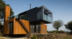 Stunning home composed of 4 shipping containers by PB Architects | Patrick Bradley Architects