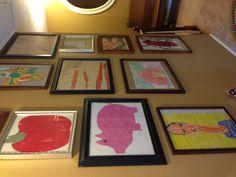 Framed kid artwork