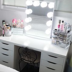 """Absolutely in love with this photo by @beautybyjobeth This setup features ikea """"Alex"""" drawers and our #originalbeautybox on the right Shop our pre-sale now at http://ift.tt/1GmsMxe by originalbeautybox"""