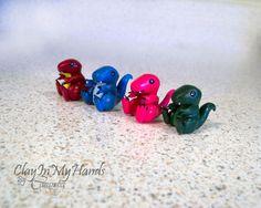 Little TRex Dinosaur Figure by ClayInMyHands