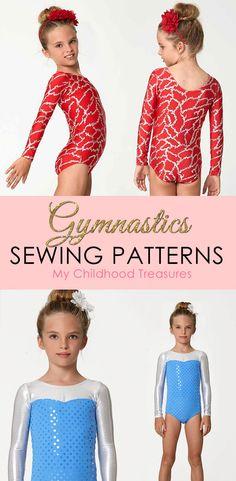 Girls gymnastics leotard sewing patterns. Easy to make with your regular  sewing machine. Gymnastics b576b9b5f