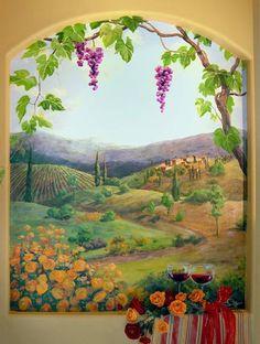 wall murals florida scene | Carol McArdle. Tropical, Mediterranean, tropical, Florida murals ...