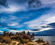 Monolake  Lee Vining | USA  Monolake in Eastern Sierra California must be the most spectacular lake I ever visited and it is as beautiful as it is spectacular!  Canon 5D mkII | 1/125 sec | f/8.0 | ISO 160 | 24 mm  #lake #unique #stacks #landscape #usa #path #high #jani #srange #blue #view #outdoors #nature #water #beautiful #spectacular #yellow #light #photography #photooftheday #different #dramatic #color #green #sunrise #sky #day #sun #white
