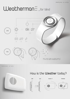 Weatherman_for blind on Behance Industrial Design Portfolio, Industrial Design Sketch, Portfolio Layout, Portfolio Design, Sketch Design, Layout Design, Presentation Board Design, Product Presentation, Poster Layout