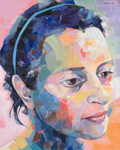 "Saatchi Online Artist: sorin dumitrescu mihaesti; Acrylic, Painting ""Portait XX4"""