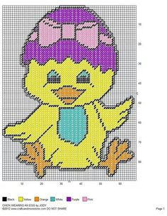 CHICK WEARING AN EGG by JODY - EASTER WALL HANGING