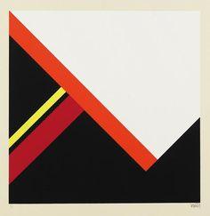 Walter Dexel - 2 Bll.: Diagonalkonstruktion im Quadrat (I und II). 1968