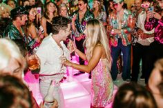 Our Wedding Welcome Party — Kelly Fiance Creative Welcome To The Party, Wedding Welcome, Our Wedding, 70s Party, Disco Party, 17th Birthday, 50th Birthday Party, Costume Party Themes, Light Up Dance Floor