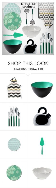 """Kitchen Products"" by lovethesign-eu ❤ liked on Polyvore featuring interior, interiors, interior design, home, home decor, interior decorating, ferm LIVING, kitchen and Home"