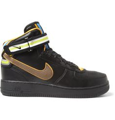 Nike Riccardo Tisci Air Force 1 Leather Mid Top Sneakers  | MR PORTER