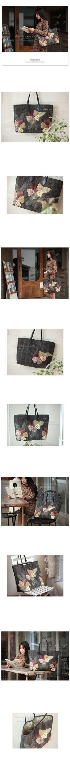 [큰꽃 쇼퍼백]