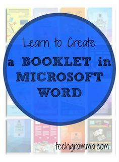 If you need to create a booklet, Microsoft Word makes it simple. Follow these step-by-step instructions to format your booklet quickly and easily. Computer Lessons, Computer Basics, Computer Help, Computer Programming, Computer Tips, Microsoft Office Online, Microsoft Excel, Tool Box Diy, Learning Tools