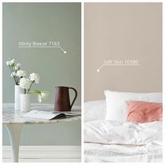 Subdued and discreet or fresh and rejuvenating – which colour would you choose for your home? Bedroom Paint Colors, Paint Colors For Living Room, Paint Colors For Home, House Colors, Interior Design Living Room, Living Room Designs, Living Room Decor, Bedroom Decor, Earthy Home Decor