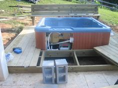 Learn how to make a deck complete by installing a hot tub.