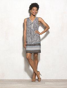 Paisley Zip-Front Dress from Dressbarn