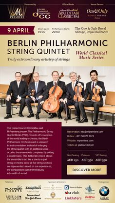 Email Client, One And Only, Classical Music, Dubai, Berlin, Web Design, Layout, Lettering, Concert