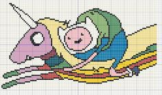 Buzy Bobbins: Finn and Lady Rainicorn Aventure time cross stitch design