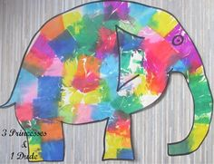 3 Princesses and 1 Dude!: Activity Time. Elmer the Elephant Tissue Paper Painting