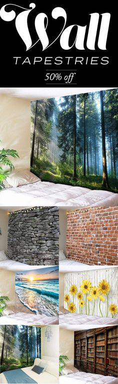Wall Tapestries - Off Today at Warmly - Wohnideen - - Schlafzimmer Ideen - Deco Tapestry Bedroom, Wall Tapestry, Tree Tapestry, Matrix Design, Home Decor Bedroom, Diy Home Decor, Sky Ceiling, Temporary Wallpaper, Design Case