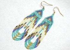 Authentic Native American Made Porcupine Quill Earrings by Yahhazie