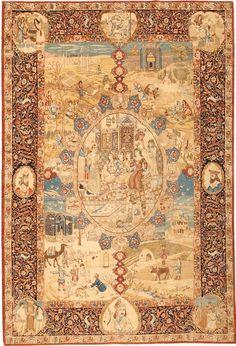Antique carpets, Antique Tabriz Persian rug