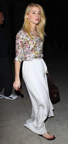 casual chic, pretty floral print