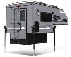 2018 Livin' Lite CampLite 6.8 Truck Camper Exterior Rear 3-4 Passenger Side
