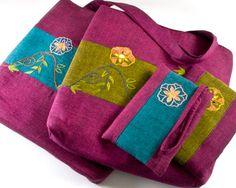 @Gandhara Designs Embroidered Handbag With Wallet