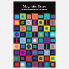 So Colorful - Magnetic Retro, $11.75, now featured on Fab.