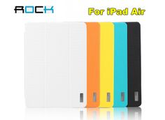 5 Color!ROCK Elegant Leather Case For iPad Air, PU Leather + PC Back Cover For iPad Air Case Free Shipping $19.99