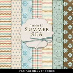 Far Far Hill - Free database of digital illustrations and papers: New Freebies Kit of Paper - Summer Sea