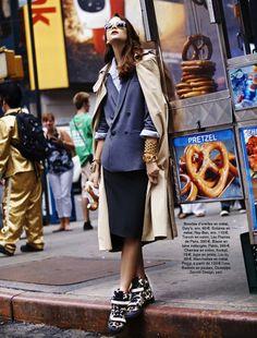 fashion editorials, shows, campaigns & more!: run baby run: sam laskey by adrian mesko for glamour france november 2013 Love Fashion, Fashion Models, Fashion Show, Womens Fashion, Fashion Glamour, Fashion 2014, Street Fashion, Fall Fashion, High Fashion
