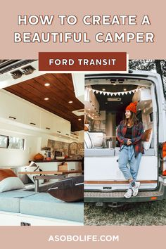 In this post I will share if you some tips I follow when I began designing our stunning campervan interior. Following these simple rules can give your van that photogenic and timeless look. #fordtransitcamper #vandesignideas #campervaninterior Campervan Ideas, Campervan Interior, Van Conversion Ford Transit, Ford Transit Camper, Wood Stain Colors, Van Design, Floor Plan Layout, Moroccan Design, Simple Rules