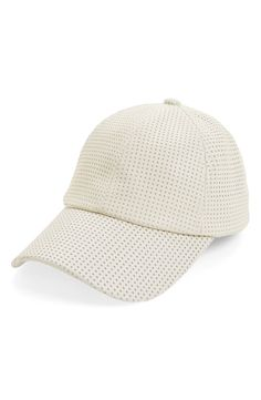 Breathable allover perforations and a cool rounded bill give this wear-with-anything cap a modern look with retro appeal.